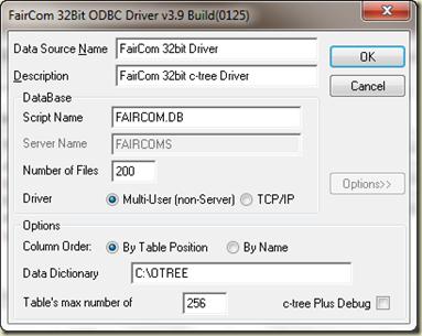 Faircom 32 bit odbc